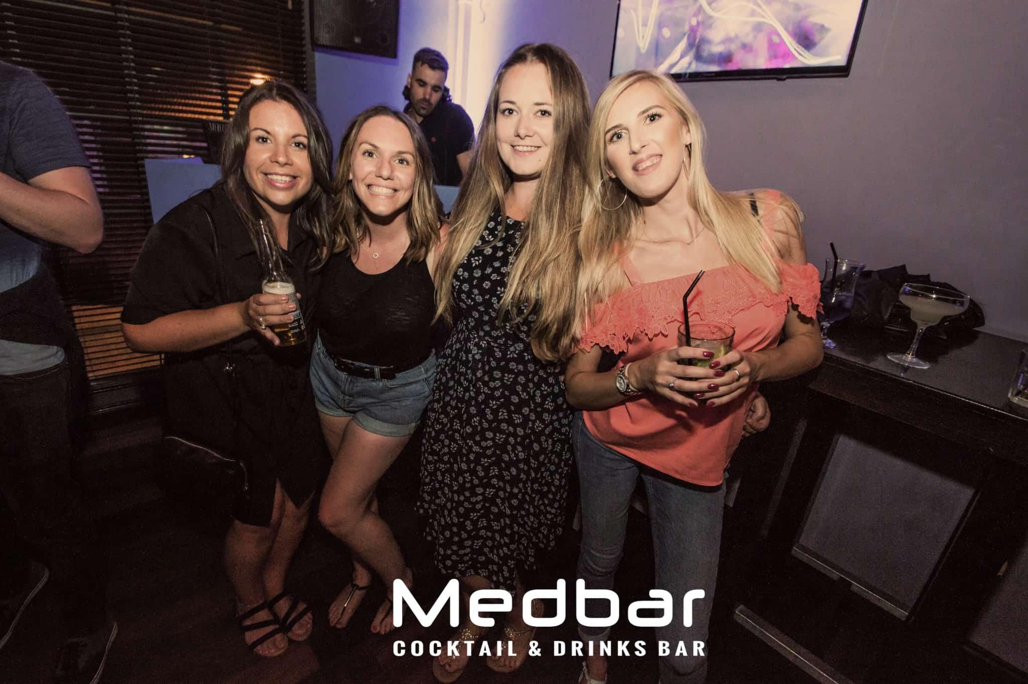 Group of ladies in nightclub