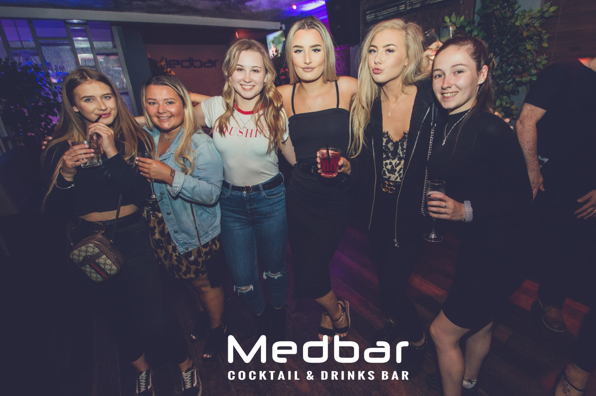 Group of ladies at nightclub