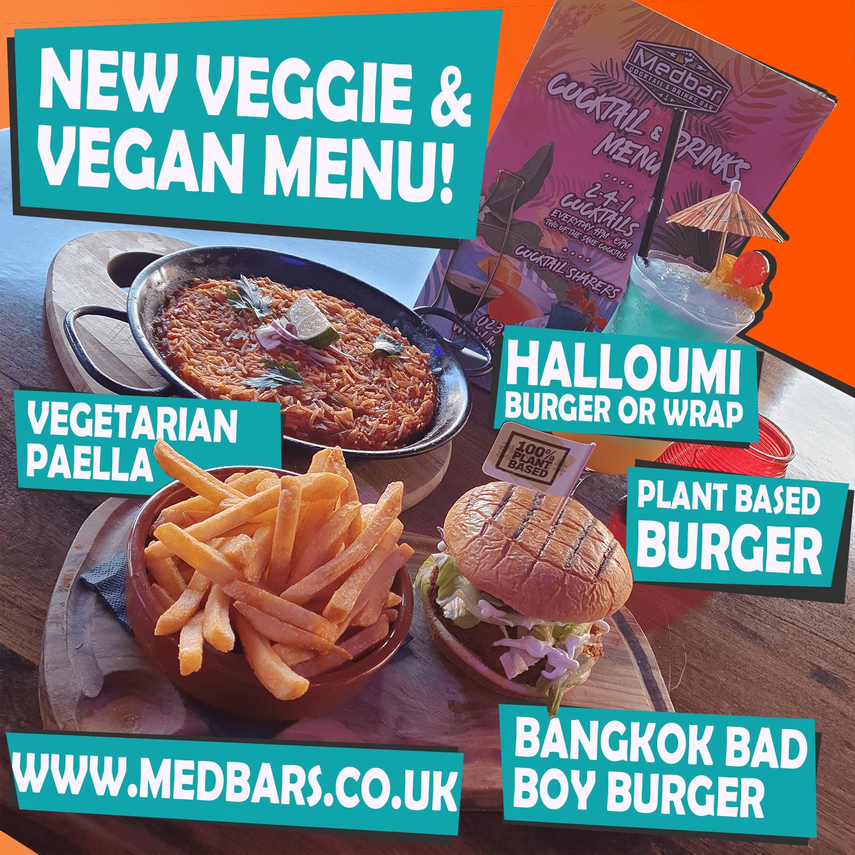 halloumi burger or wrap, plant based burger, beyond meat, bangkok bad boy burger, vegan or vegetarian paella
