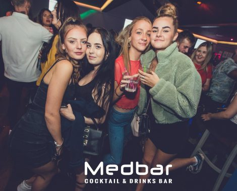 Group of four ladies at medbar